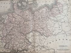 Antique home decor uk map