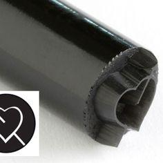 KS-039-Arrow Pierced Heart 10 mm acrylic stamp by Kor Tools.