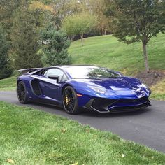 Lamborghini Aventador Super Veloce Coupe painted in Blu Sideris  Photo taken by: @steve_lp750 on Instagram (He is also the owner of the car)