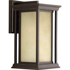 "View the Progress Lighting P5610 Endicott 14"" Tall Single Light Outdoor Wall Sconce with Lantern Shade at LightingDirect.com."