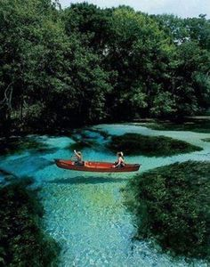 Cypress Spring, Florida. Water is so clear it looks like the boat is floating in the air. Places To Travel, Places To See, Travel Destinations, Holiday Destinations, Travel Things, Tourist Places, Travel Stuff, Dream Vacations, Vacation Spots