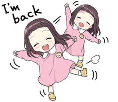 A little girl Sticker 9 EN – LINE Stickers | LINE STORE Kawaii Neko Girl, Kawaii Chan, Dibujos Anime Chibi, Cute Anime Chibi, Anime Child, Anime Art Girl, Anime Eyes, Manga Anime, Anime Stickers