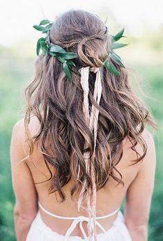 greenery wedding hair ideas emily jane photography