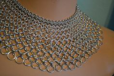 Wide Graduated Chain Maille Collar Necklace  by AthenasArmoury, $150.00