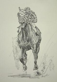Secretariat Kentucky Derby Horse racing Prints by artsportsdotcom, $22.95