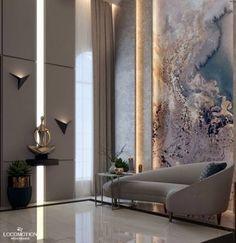 Home Design Drawing Villa reception on Behance - Home Room Design, Decor Interior Design, Living Room Designs, Interior Decorating, Decorating Games, Decorating Websites, Luxury Homes Interior, Luxury Home Decor, Lobby Interior