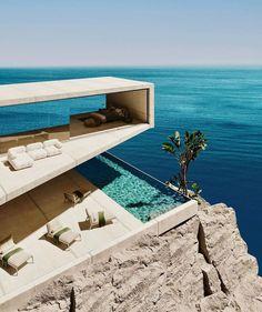 Amazing Architecture, Modern Architecture, Villas, Australia House, Cliff House, Architecture Visualization, Luxury Travel, Luxury Homes, Luxury Life