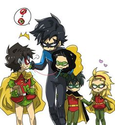 There's something adorable about all the Robins being together