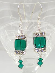 Sweet Freedom Designs: Holiday Swarovski Earrings