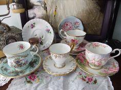 My personal teacup collection.  Source: cupcakestorm.tumblr.com