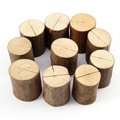 10 uds. Soporte para Mesero del Tocon madera natural Base…