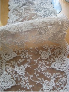 off white lace trim embroidered lace bridal by WeddingbySophie, $4.50