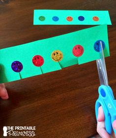 These stickers were such a motivator when learning how to cut. She lays out step-by-step how to work on fine motor skills.