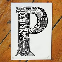 Best Of Paris Screen Print, 32€, now featured on Fab.