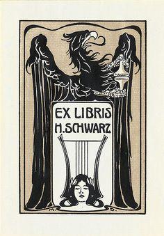 [Bookplate of Heinrich Schwarz] by Pratt Institute Library, via Flickr