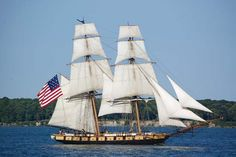 This is one example of a brig.  It is the kind of ship Charlotte sailed on.  This is the US Brig Niagara