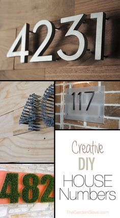 Creative DIY House Numbers. Loving the nail idea.