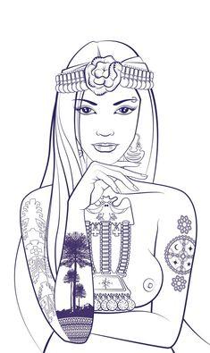 Illustration Children of Earth Cleopatra Tattoo, Girl Tattoos, Tatoos, The Black Cauldron, Political Art, Black Sails, Little Black Books, Black Rock, Mermaid Art