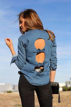 my favourite denim shirt | Lady Addict en stylelovely.com