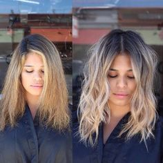 From dry & fried to gorgeous & healthy. made it happen with Shades EQ - the color that thinks it's a conditioner. & at the roots + an all-over gloss of & Brown Hair With Blonde Balayage, Balayage Hair, Wavy Wedding Hair, Bond, Look 2018, Hair Highlights, Partial Highlights, Ombre Hair, Gorgeous Hair
