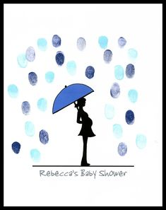 Image result for thumbprint baby shower guest book