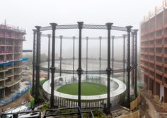 Bell Phillips has converted a Victorian gas holder into a circular park for King's Cross.