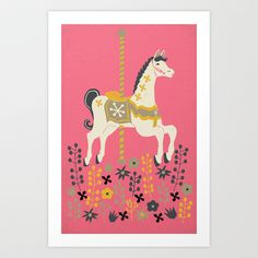 Carousel Art Print by Andrea Lauren - $16.00