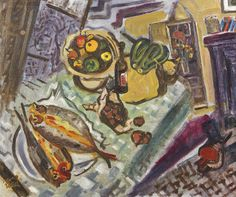 Nano Reid (1900-1981) - Friday Fare, 1945 Fauvism, Venice Biennale, Irish Art, Expressionism, Oil On Canvas, Friday, Artists, Eye, Female