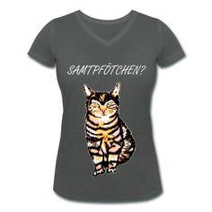 Fräulein Katze T-Shirts Frauen T-Shirt mit V-Ausschnitt | Spreadshirt | ID: 27227961