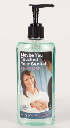 """A bottle of soap to serve as a reminder for people who may be a little lax about the whole """"washing your hands after you touch your junk"""" thing. 