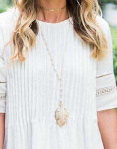 Alexandra Gioia Palm Leaf Lariat Necklace