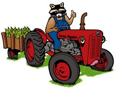 Rocky drives a tractor