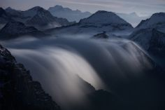 1X - Rivers of Clouds at Moonlight by Roberto Bertero