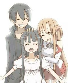 Kirito, Asuna, Yui, family; Sword Art Online