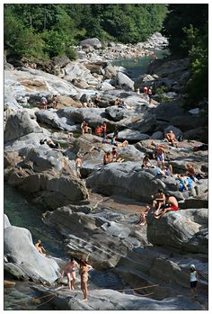 Rocks of the Verzasca river, Lavertezzo, Switzerland Copyright: Kari Tanskanen
