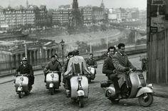 Edinburgh Vespa club 1954