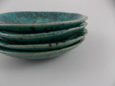 Handmade ceramic turquoise and sliver dish perfect by GXDesigns