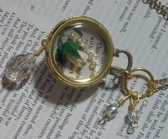 """Locket """"Romantic White Flower"""" Romeo & Juliet Necklace by DreamAddict on Etsy"""