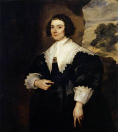 Portrait of Isabella van Assche - Anthony van Dyck.  1634-35.  Oil on canvas.  108 x 97 cm.  Gemaldegalerie Alte Meister, Kassel, Germany.