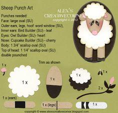 Alex's Creative Corner - Lamp - Sheep Punch Art instructions