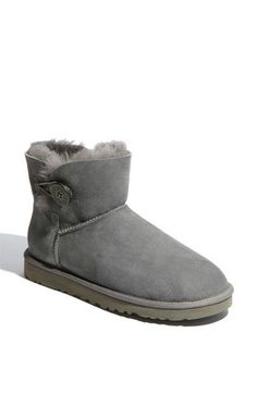 UGG® Australia 'Mini Bailey Button' Boot (Women) available at - size 5  chestnut