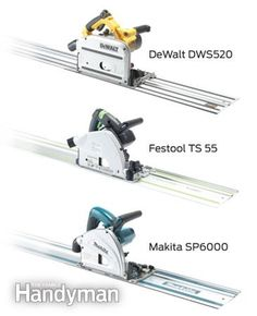 Benefits of a Track Saw: Track saws make long, precise cuts faster and better than table saws and circular saws. They are light and portable, don't need clamps and set up quickly and accurately. Read more: http://www.familyhandyman.com/tools/power-tools/benefits-of-a-track-saw/view-all