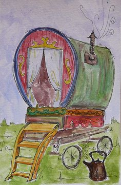 i used to draw gypsy caravans all the time.