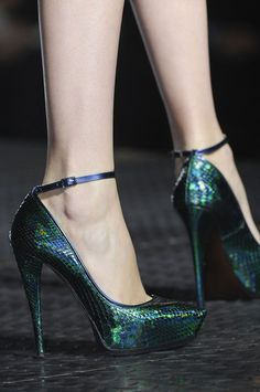 SO beautiful! Wearable peacock shoes! ~ Lanvin Spring 2013
