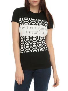 Twenty One Pilots Mask Girls T-Shirt   Hot Topic