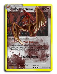 Infected Fearow TCG by ColorofAshes.deviantart.com on @deviantART