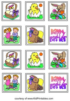 printable Easter stickers for kids http://www.kidprintables.com/stickers/