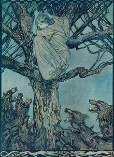 Arthur Rackham,   The Wooing of Becfola