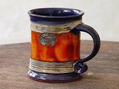 Pottery Coffee Mug, Cermic Mug, Large Earthen Mug, Coffee Cup, Teacup, Unique Handmade Pottery, Tableware, Kitchen Pottery, Danko