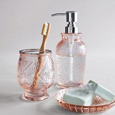 Glass Soap/Lotion Dispenser Blush - Opalhouse